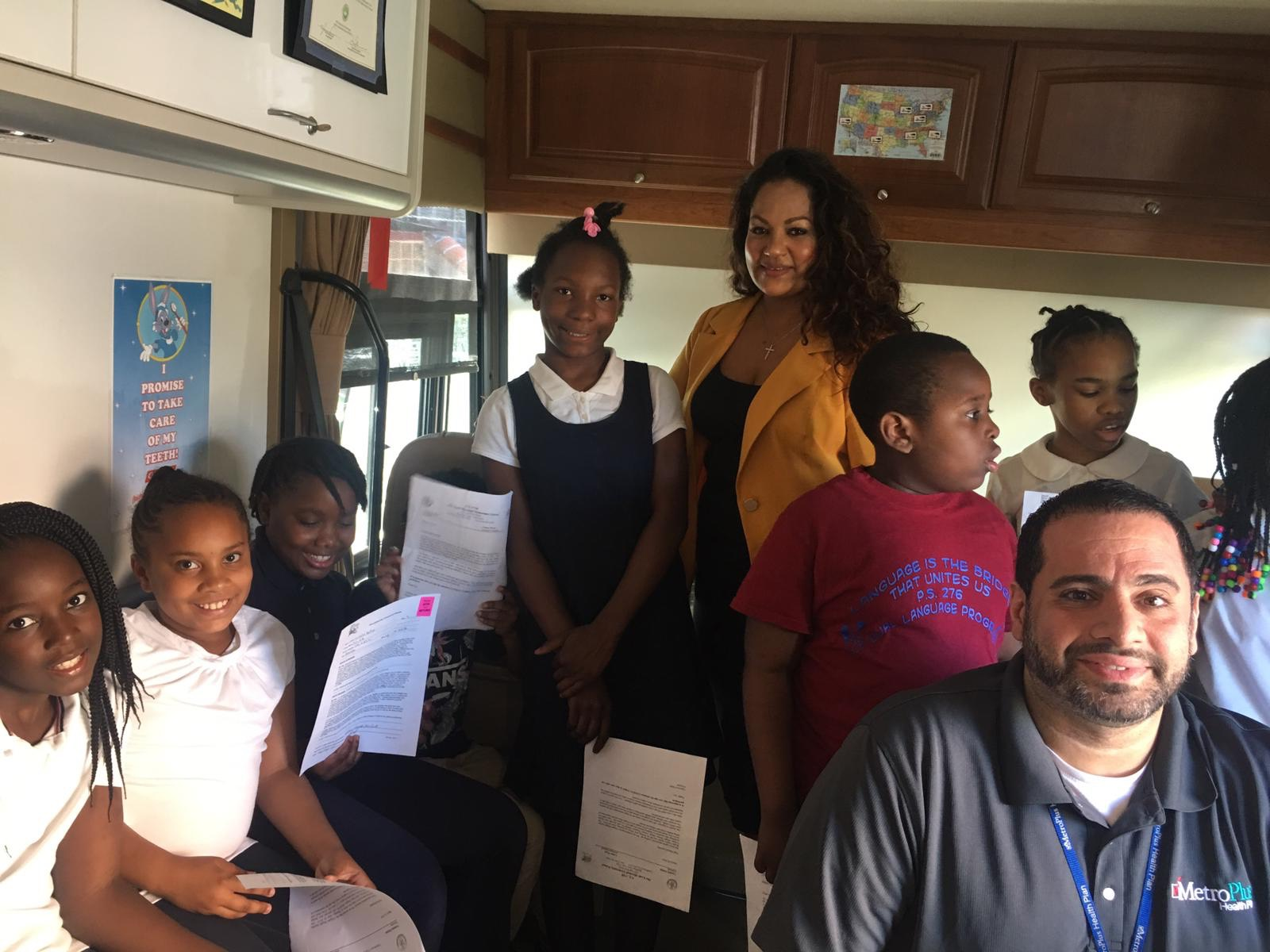 Colgate Bright Smiles, Bright Futures in conjunction with Assembly member Jaime Williams showcase the importance of good oral health habits with students from P.S 276.