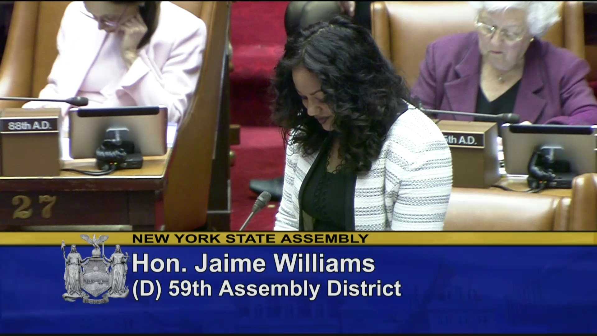 Welcoming Valerie Woodford to the Assembly