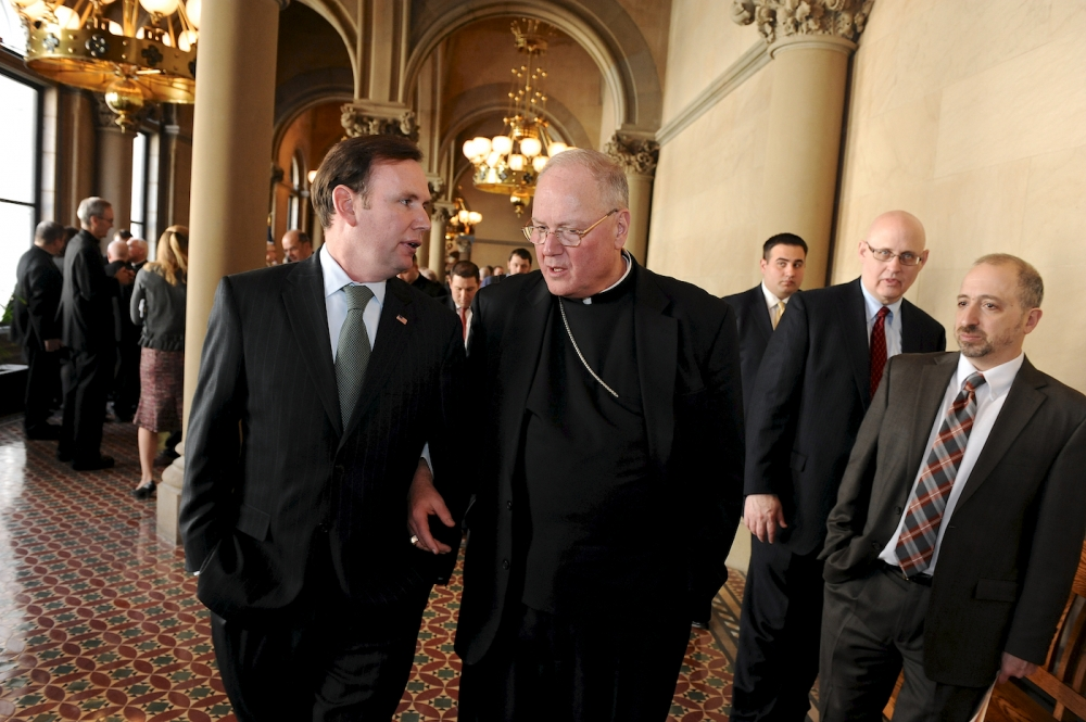 Assemblyman Cusick and Cardinal Dolan push passage of education investment tax credit.