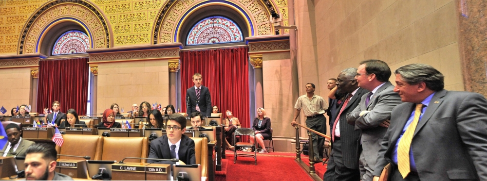 Assemblyman Cusick attends the 2015