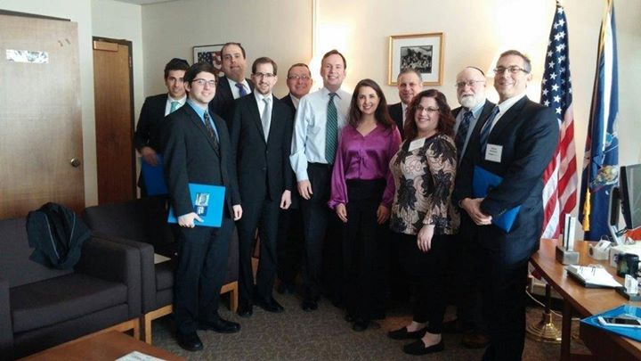 The UJA Federation of New York traveled to Albany in March to meet with Assemblyman Michael Cusick Assemblyman Michael Simanowitz on their legislative agenda.