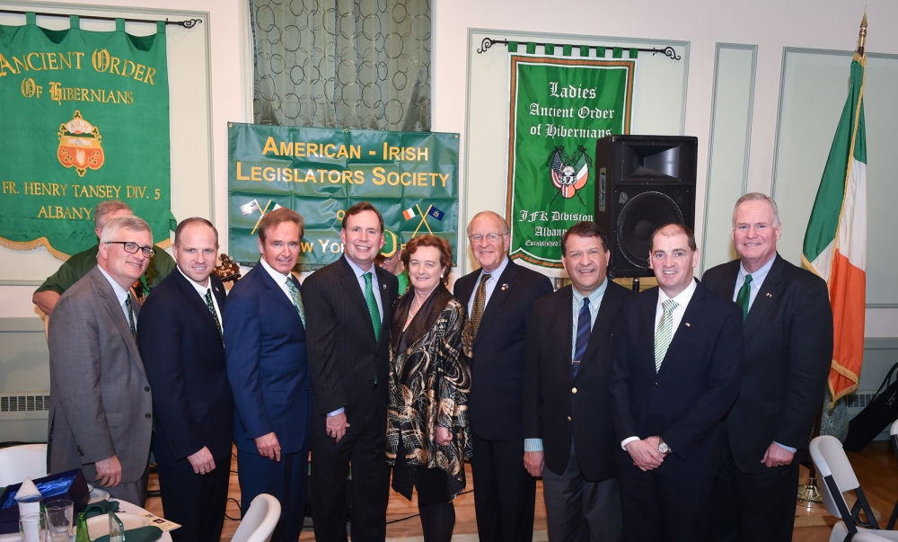 The 43rd Annual St. Patrick's Dinner hosted by Assemblyman Cusick, as President of the American Irish Legislators Society of New York State.