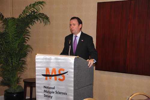 Assemblyman Cusick, Chair of the Taskforce on People with Disabilities, speaks at the National Multiple Sclerosis Society's New York MS Coalition Action Network Public Policy Conference which was held in Albany on May 9, 2011.