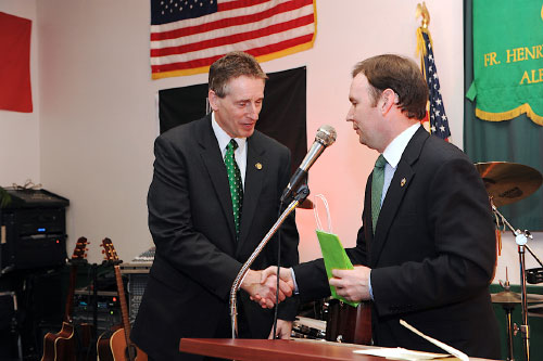 Assemblyman Cusick, President of the American-Irish Legislator's Society at the Annual Dinner on March 7th, 2011.