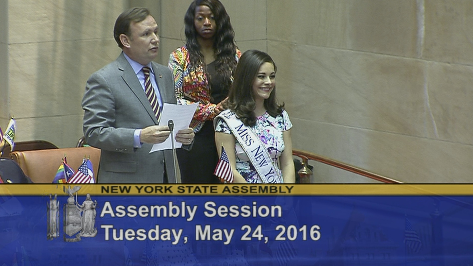 Miss New York 2015 Visits Assembly