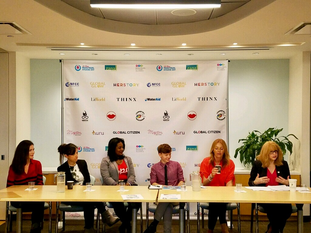 In celebration of International Menstrual Hygiene Day, Assemblymember Linda B. Rosenthal participates in a panel discussion about menstrual equity and her bill that axed the antiquated tampon tax in N