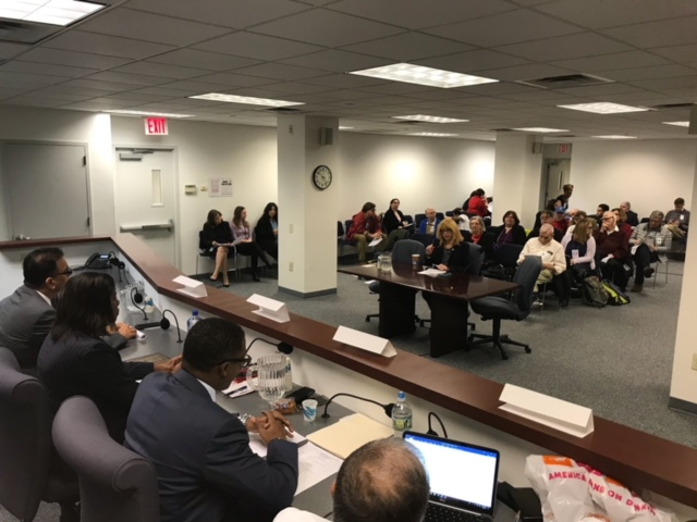 Assemblymember Linda B. Rosenthal testifies before the New York State Department of Housing and Community Renewal to demand a rent rollback for thousands of rent-controlled tenants.<br />&nbsp;