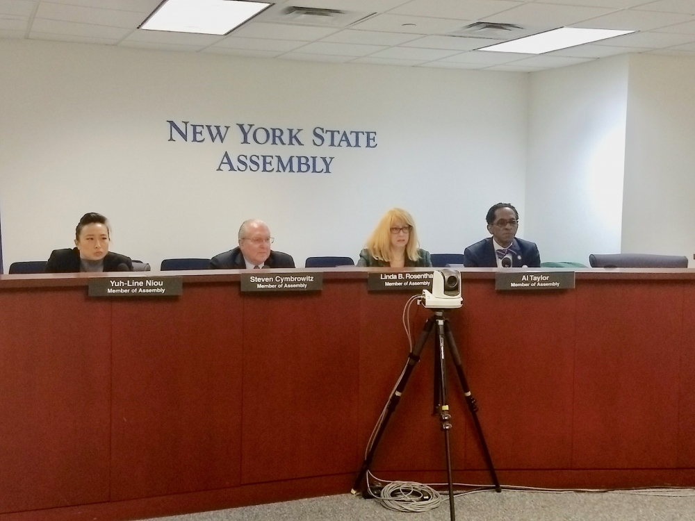 Assembly Member Taylor joined Assembly Members Yuh-Line Niou, Housing Committee Chair Steven Cymbrowitz and Linda Rosenthal for a hearing in Manhattan on issues related to how the State budget funds p
