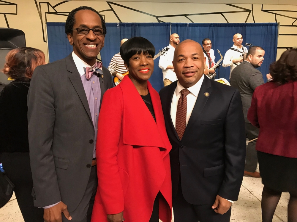 Assemblymember Al Taylor and Mrs. Gwen Taylor joined Speaker Carl E. Heastie for an event during the 2018 Somos El Futuro event in Albany.
