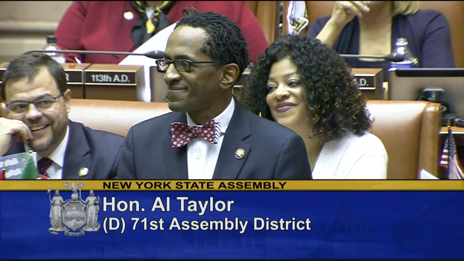 Introduction of Assembly Member Al Taylor