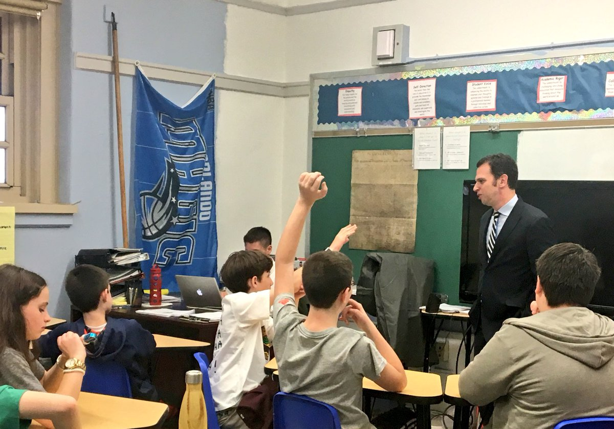 Students at Yorkville Middle School have some excellent questions about public service. Thank you for inviting me to your career day.
