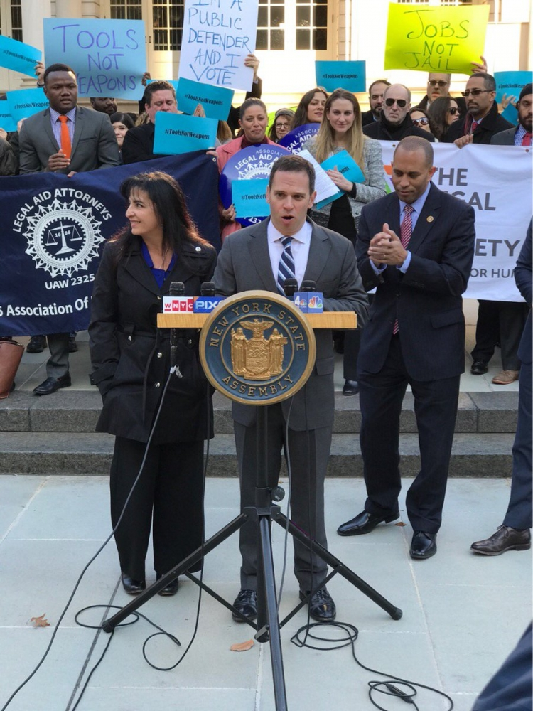 Urging governor Cuomo to sign my gravity knife bill.