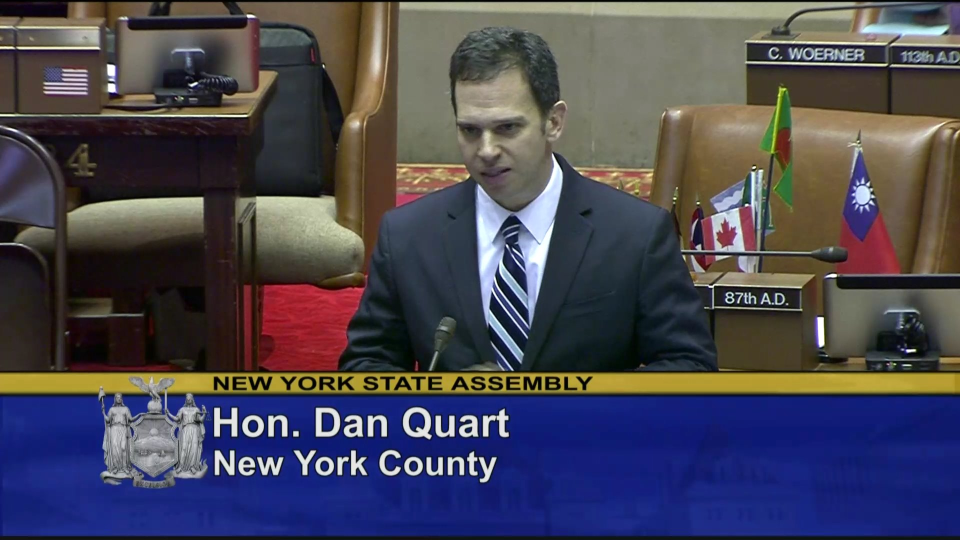 Quart Discusses Gun Safety Measure