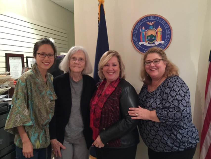 December 1, 2015—Community Office, NYC—Assembly Member Rebecca A. Seawright meets with the Manhattan Developmental Disabilities Council members Sunghee Park, Julia Rogge and Jackie Ceonzo.