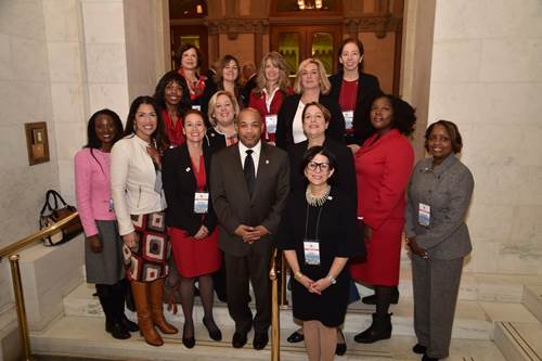Assembly Member Seawright meets with Speaker Carl Heastie and the Women Builders Council, the leading association representing women in the construction industry on several important fronts: legislative advocacy, new business and professional development with a special focus on leadership.