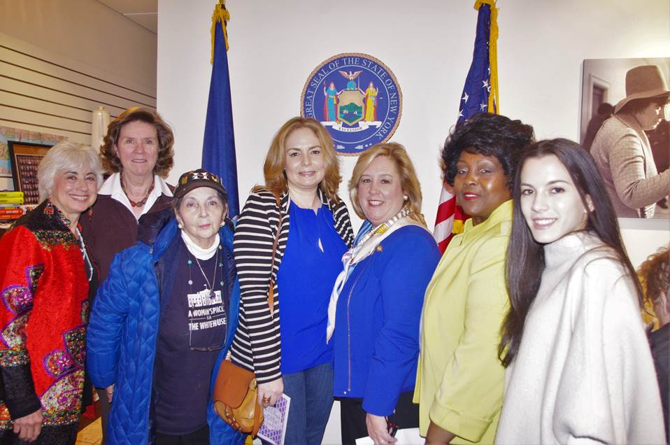 Friday, March 18, 2016---Upper East Side, Manhattan---Congresswoman Carolyn Maloney along with Assembly Member Rebecca A. Seawright presented the awards and spoke to the accomplishments of women in history and the fight for the Equal Rights Amendment in Congress.  Recipients of the Women of Distinction Award included Loraine Brown, Alice Heyman, Zoe Markowitz, Margie Smith, Ellen Polivy and Eileen Toback.