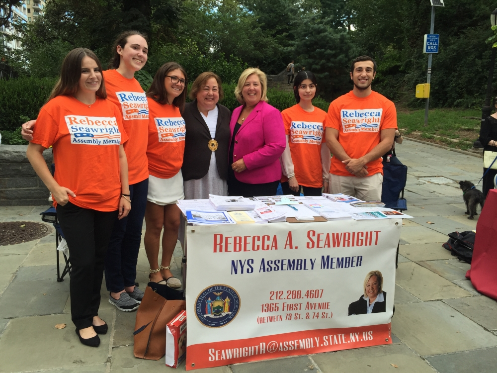 Assembly Member Seawright attends the 19th Precinct Community Council National Night Out Against Crime with Senator Liz Krueger and staff<br />