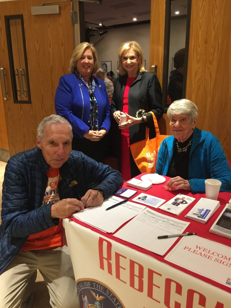 Assembly Member Seawright, Congresswoman Maloney and community activists Ken Greenstein and Helene Goldfarb at the Lenox Hill Neighborhood House Senior Community Fair.<br />