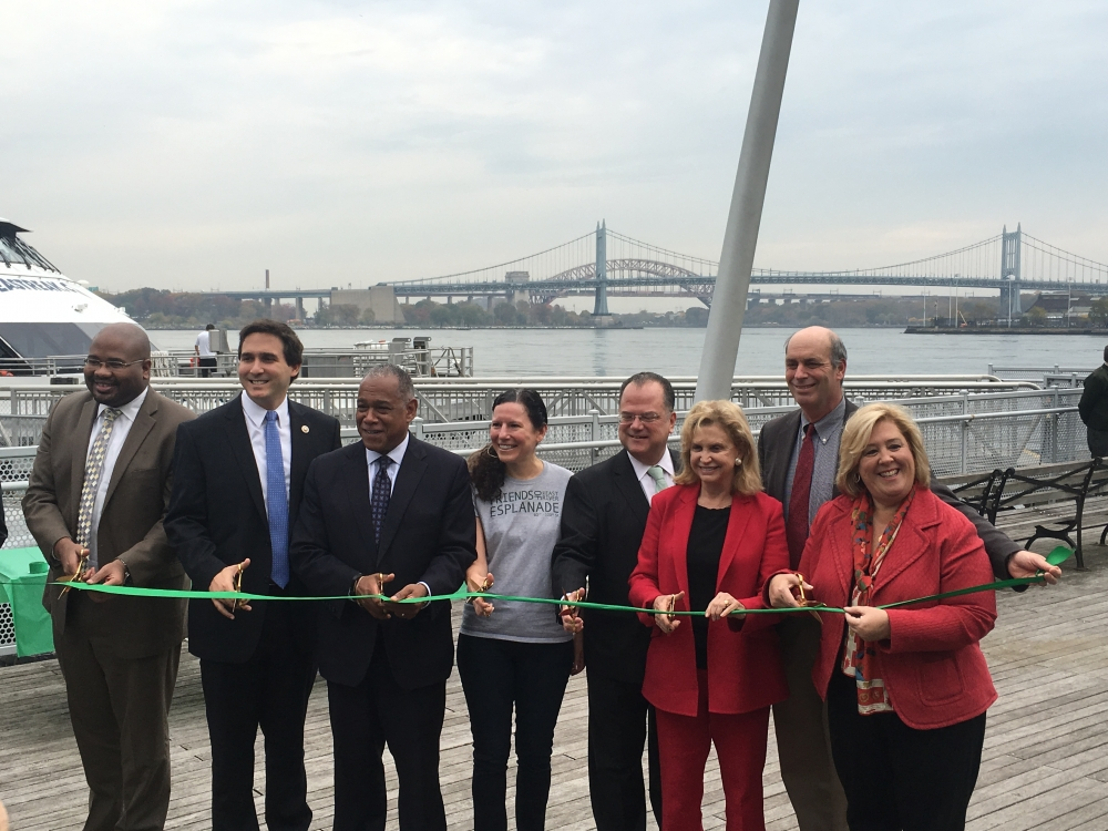 Pier 90 Now Open to the Public-- On Thursday, November 3, 2016 Assembly Member Seawright joined Council Member Ben Kallos, Parks Commissioner Mitchell Silver, Friends of the East River Esplanade Chair Jennifer Ratner, Community Board 8 Chairman Jim Clynes, Congresswoman Carolyn Maloney at the ribbon cutting ceremony for the opening of Pier 90 to the public.<br />