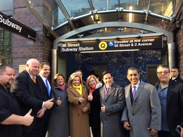 On Thursday, December 23, Assembly Member Seawright attended the opening of the 96th Street Second Avenue Subway stations with Congresswoman Carolyn Maloney, Governor Andrew Cuomo, MTA Chairman Thomas Prendergast and other elected officials.<br />