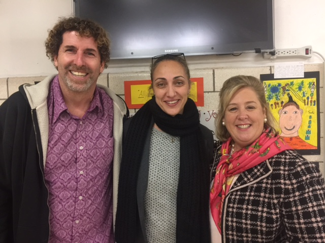 Seawright Speaks to Community Education Council at PS 290 – PS290 Steven Jaffee, Principal Doreen Esposito and Assembly Member Rebecca Seawright.<br />