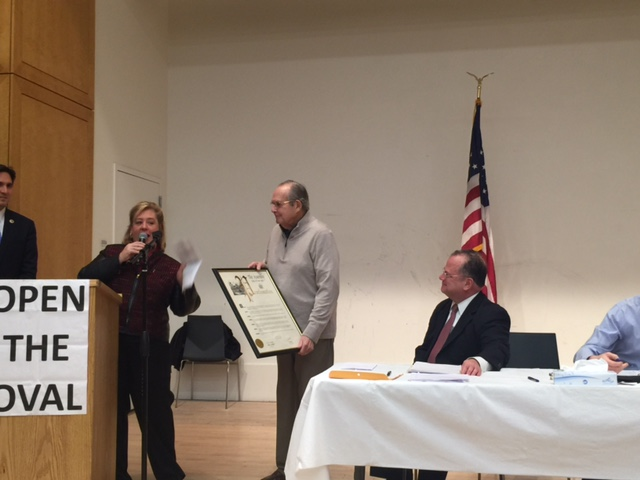 Assembly Members Seawright and Quart Honor Barry Schneider, Co-Chair of the Second Avenue Subway Taskforce.