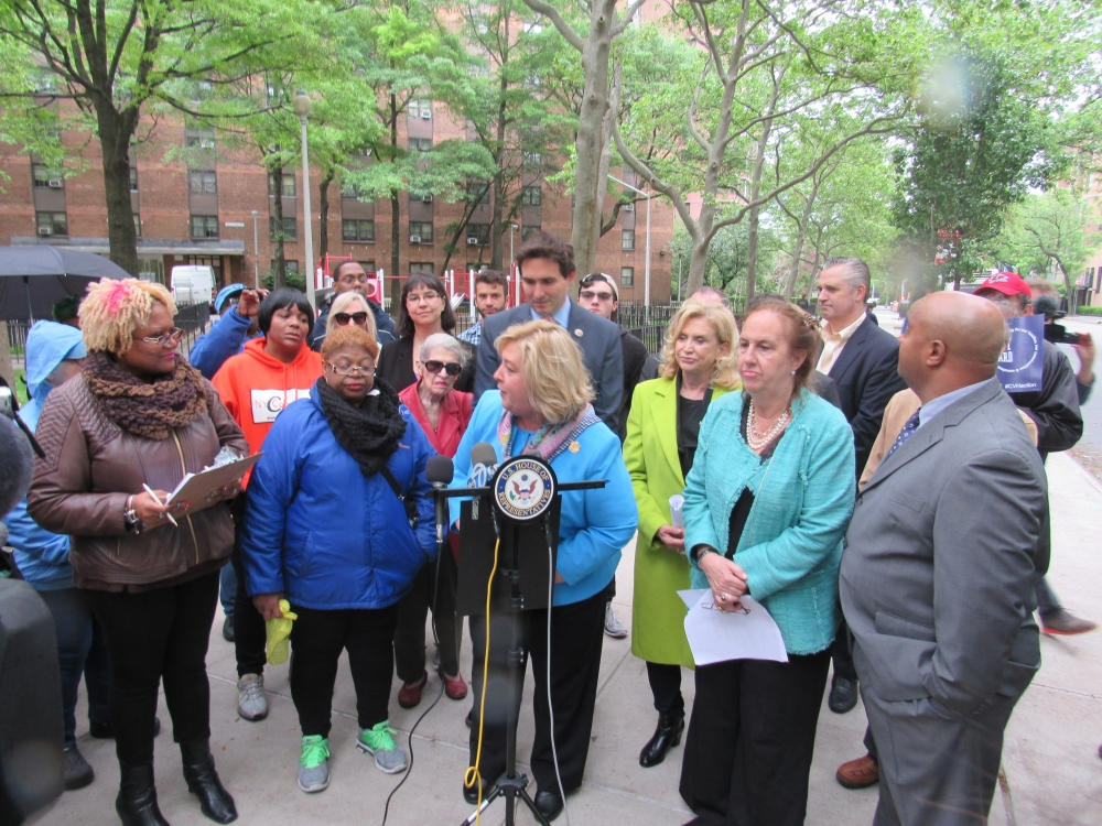 "On Tuesday, May 30, Assembly Member Seawright spoke at Rep. Maloney's press conference with Holmes Towers tenants and fellow Upper East Side Elected Officials as a proud public school parent who knows the importance of having parks and open spaces for children. Seawright called on Chairwoman Olatoye of NYCHA to re-examine the ill-considered plans to put a 47-story building on the playground used by the children at Holmes Towers.<br /><br />""We will not compromise on affordability and public housing, we will not compromise when it comes to open spaces, and we will not compromise to put profits before people. According to New Yorkers for Parks, we only have three-quarters of a playground per 1,250 children. This is unacceptable and we will not stop until our voices are heard,"" said Assembly Member Seawright.<br />"