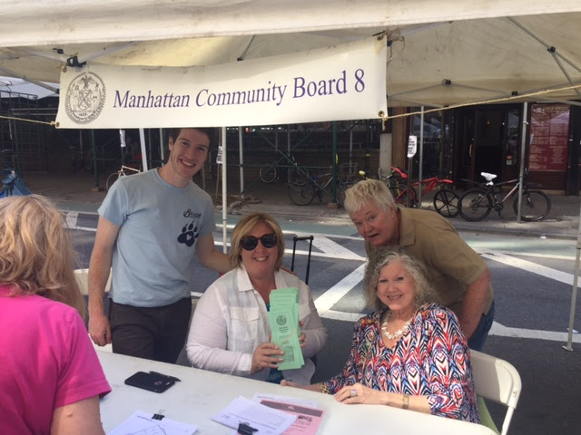 First Avenue Festival with Community Board 8 Member Daniel Dornbaum, Assembly Member Rebecca Seawright, President of the East 86th Street Association Elaine Walsh, and Community Board 8 Member Michele Birnbaum.<br />