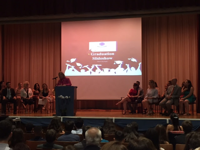 June 23, 2017: Seawright delivers remarks at Yorkville East Middle School graduation.<br />