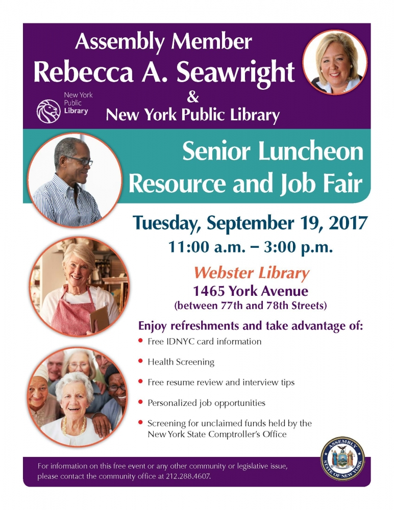 Join the Senior Citizen Community Fair on Tuesday, September 19!