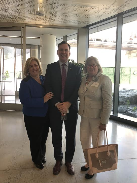 Seawright with Energy Chair Assembly Member Michael Cusick and Assembly Member Barbara Lifton.