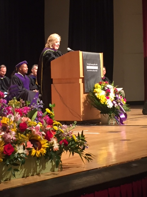 Seawright speaks at the CUNY Law Commencement along with US Attorney Paul Butler.<br />&nbsp;