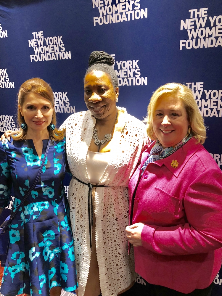Philanthropist Jean Shafiroff, &#34;Me Too&#34; movement founder and Celebrating Women Honoree Tarana Burke and Seawright.<br />&nbsp;