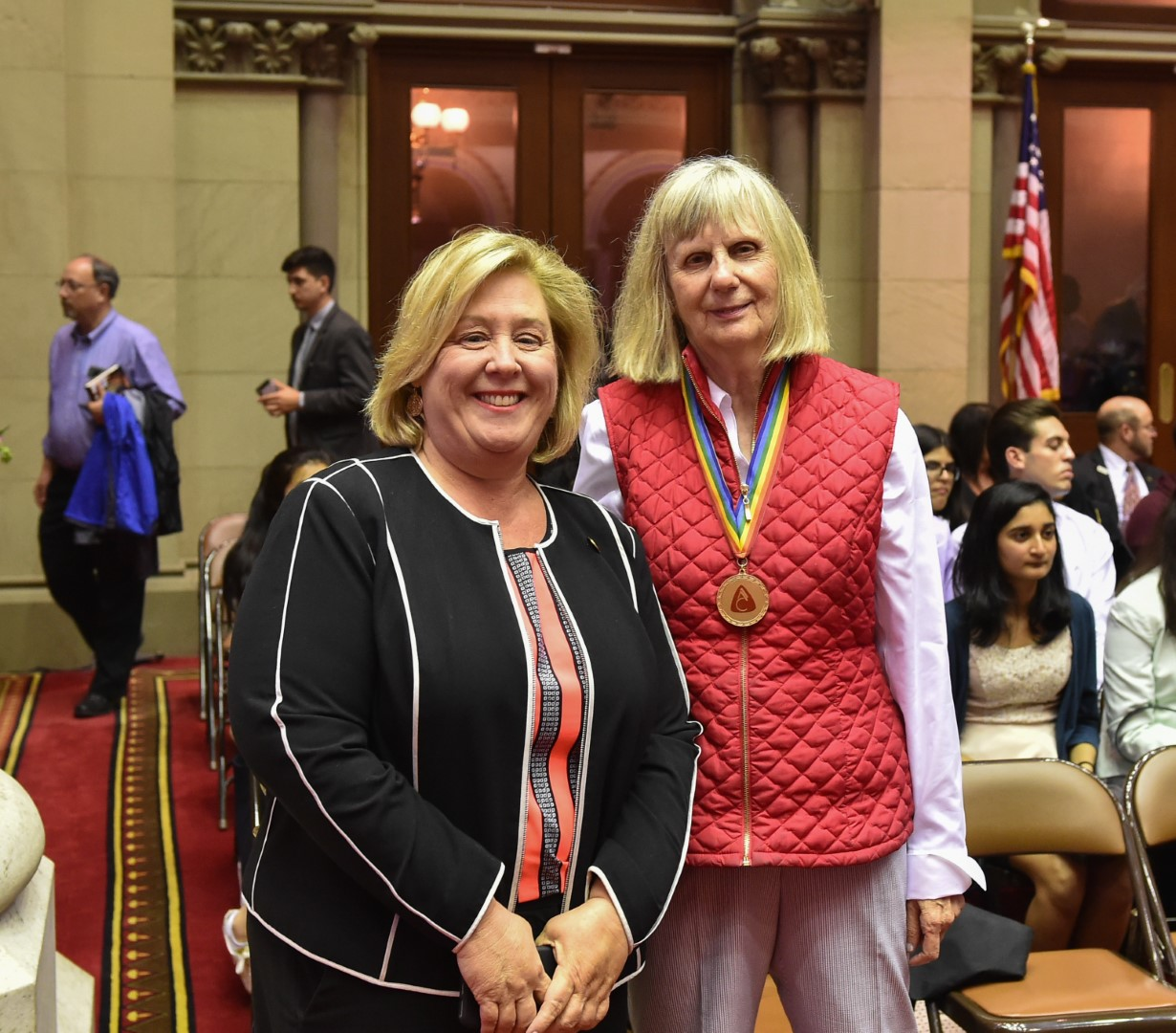 Seawright with Joyce Bahr, President of the Unsealed Initiative and constituent at the Unsealed Initiative Press Conference held in the back of Assembly Chambers on Tuesday, June 5, 2018.