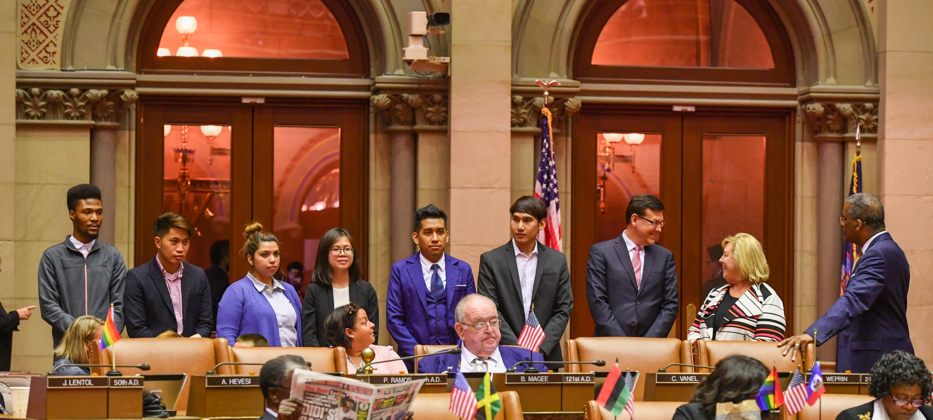 The James Jay Dudley Luce Foundation's Young Global Leaders visited the Captial this week to meet Rebecca and other members of Assembly. They took a tour of the capital and were shown around by our Albany Staff.  The Foundation is based out of Roosevelt Island.