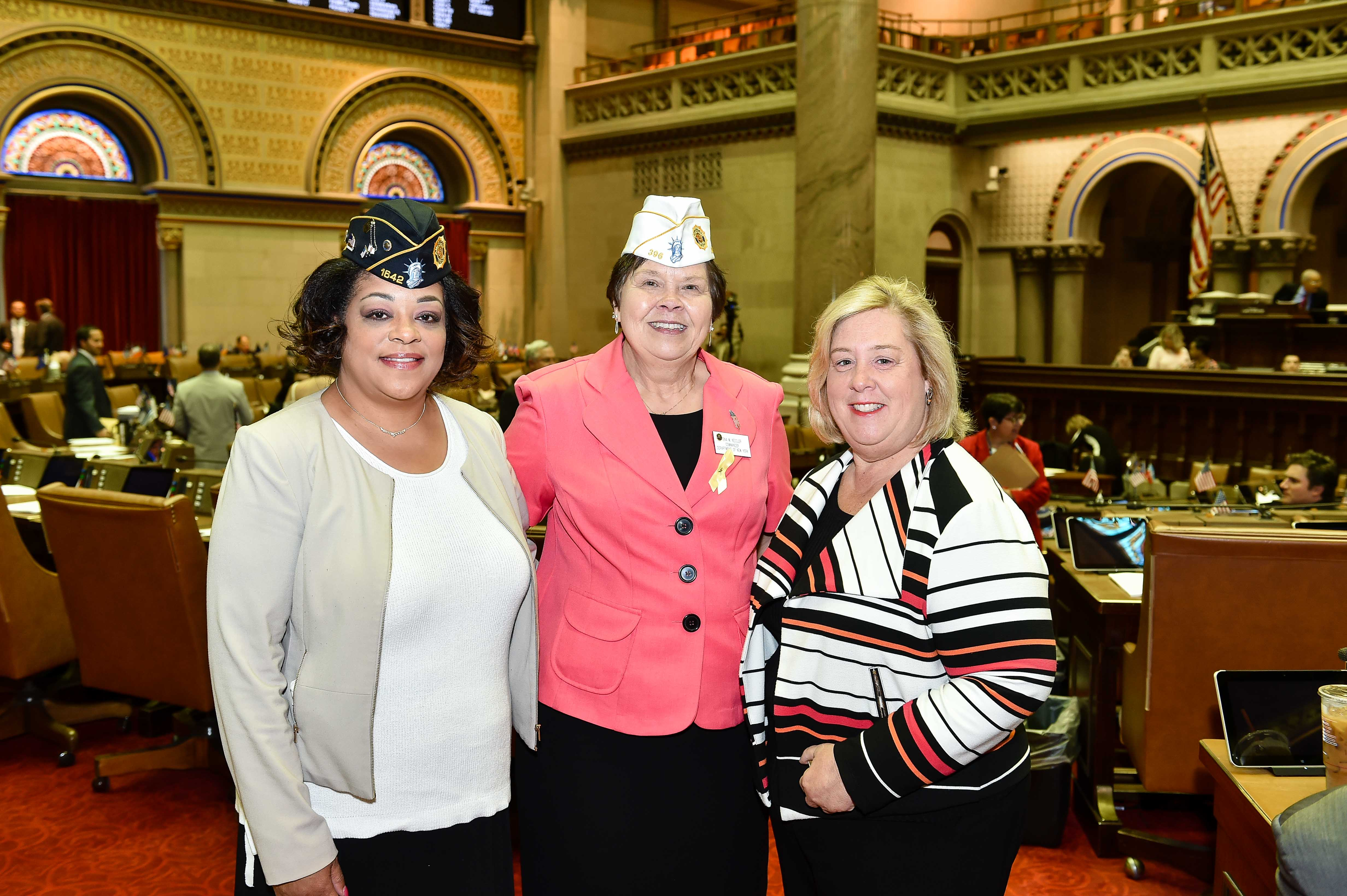 Assembly Member Pamela Hunter is a Veteran and Chair of the Assembly Subcommittee on Women Veterans, with Rena M. Nessler, The American Legion Department of NY's  first female Department Commander in 99 years.