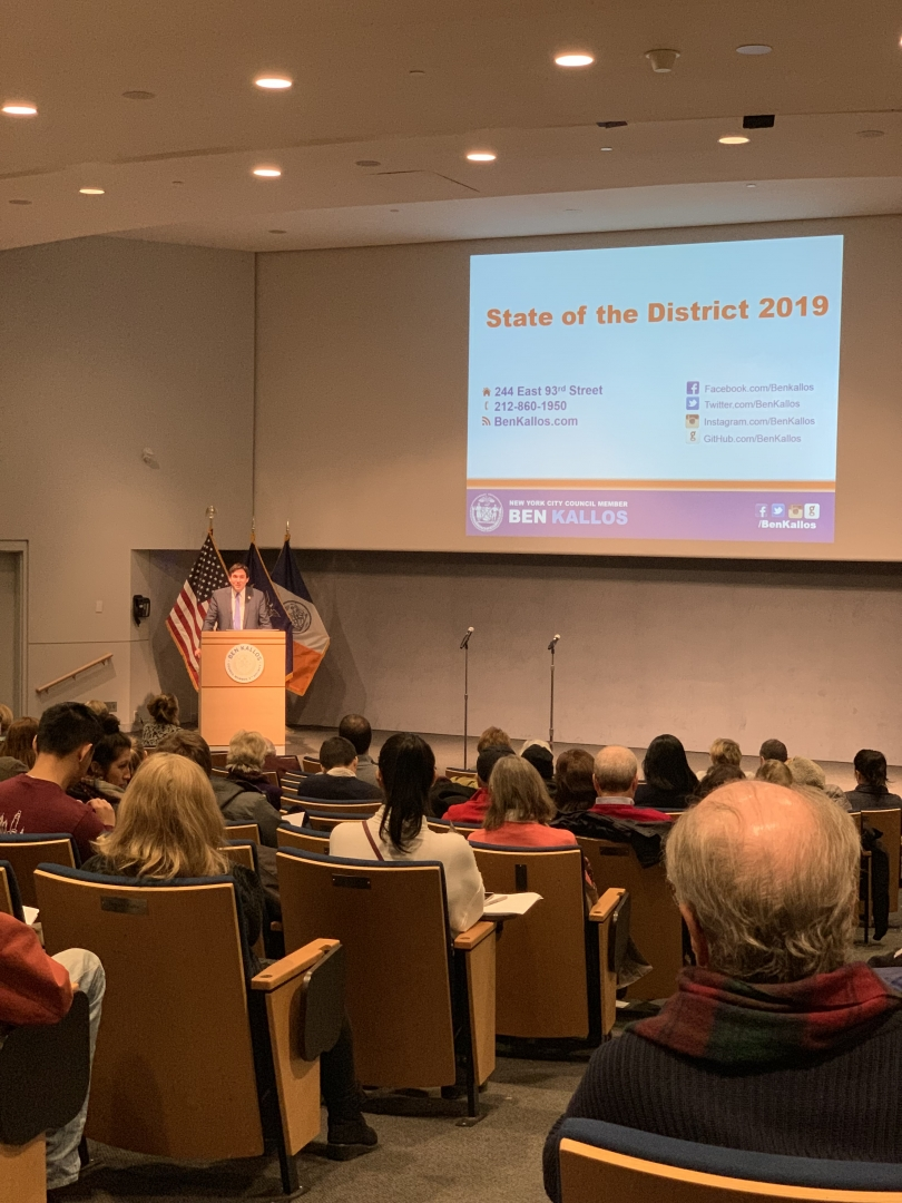 Council Member Ben Kallos Hosts Annual State of District 5