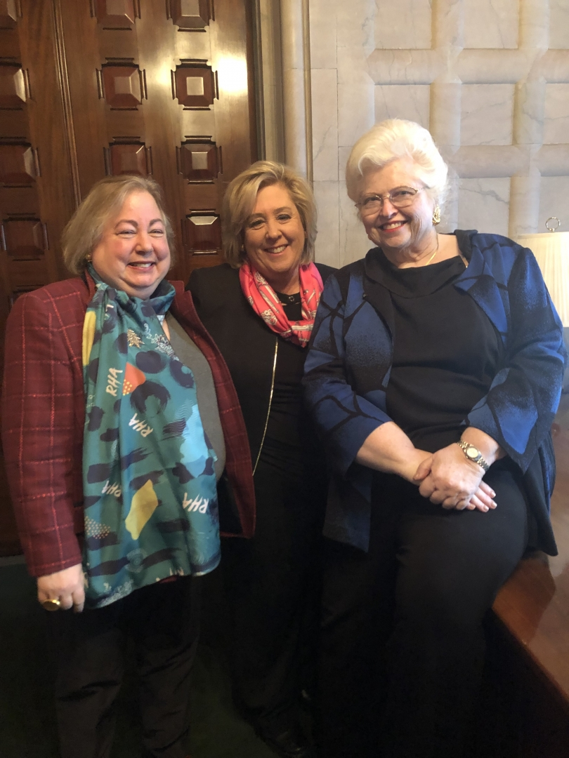 Lead Sponsor of the Reproductive Health Act, State Senator Liz Krueger, Assembly Member Rebecca Seawright and Dr. Sarah Weddington.