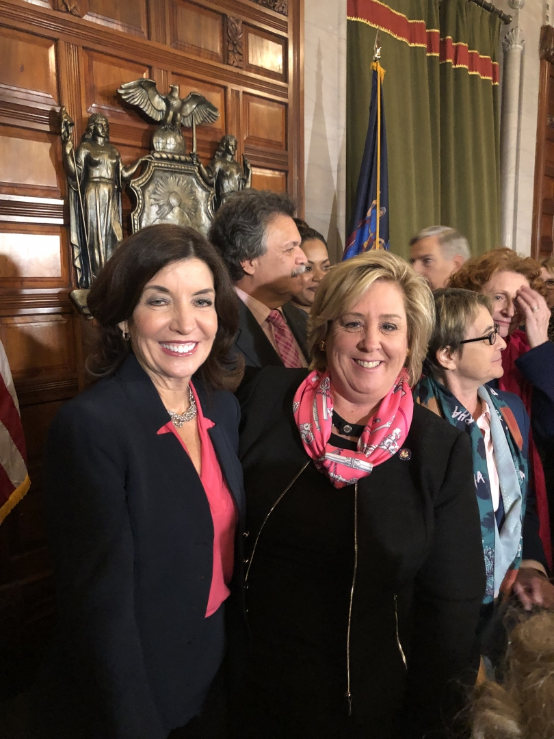 Lt. Governor Kathy Hochul presided over the Senate's Chamber as the Reproductive Health Act passed.