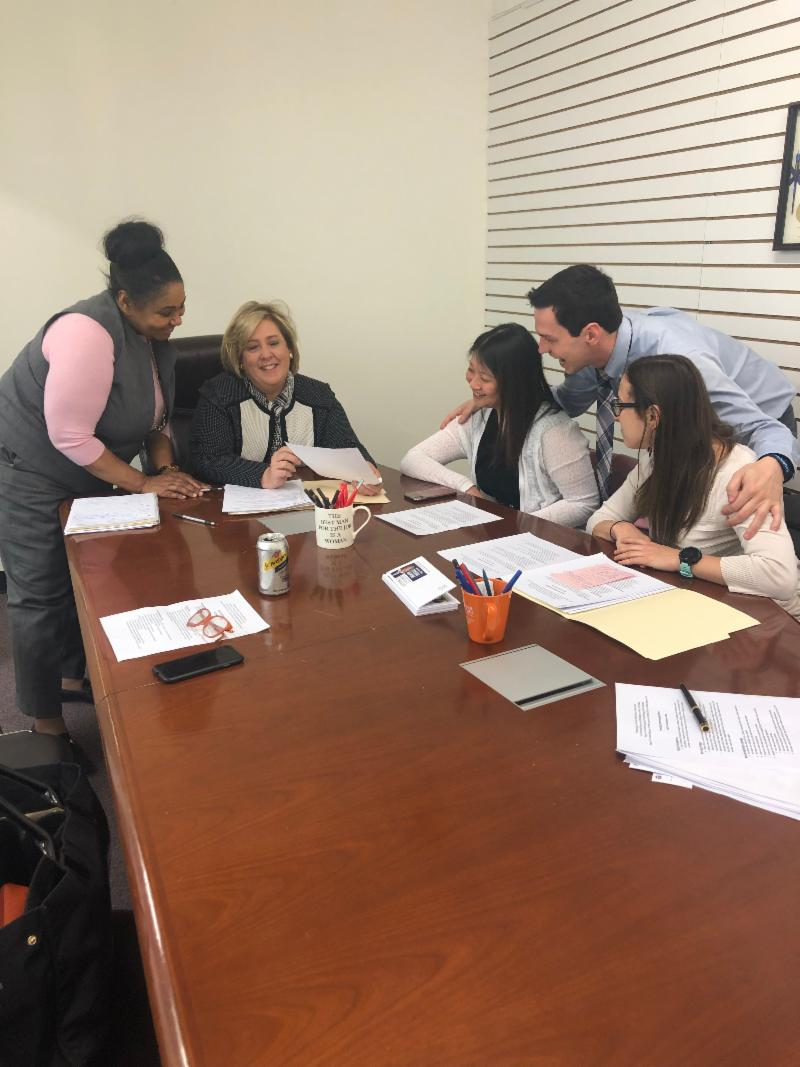 Pharmacists meet with Assembly Member Seawright in support of her legislation to extend and expand provisions enacted in 2011 that permit pharmacists to collaborate with physicians in the provision of