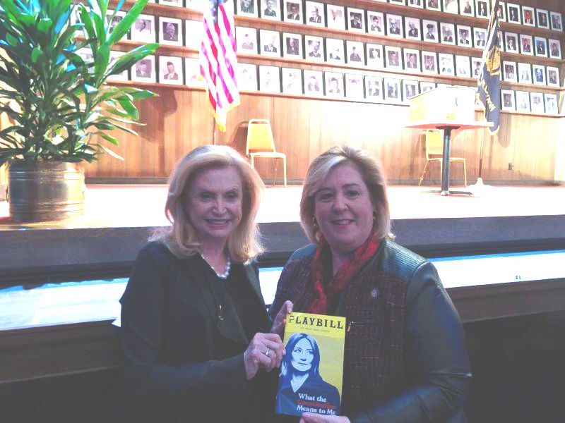 Seawright attends a special performance of 'What the Constitution Means to Me,' featuring Congresswoman Carolyn Maloney in a talkback on the Equal Rights Amendment.