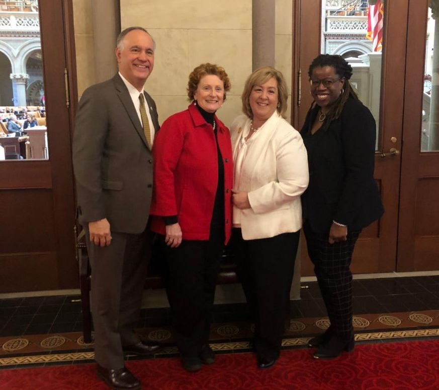 CUNY Chancellor Dr. Felix Matos Rodriguez, Assembly Members Jo Anne Simon, Rebecca Seawright and Glenda Grace, Senior Vice Chancellor For Institutional Affairs and Strategic Advancement and Special Co