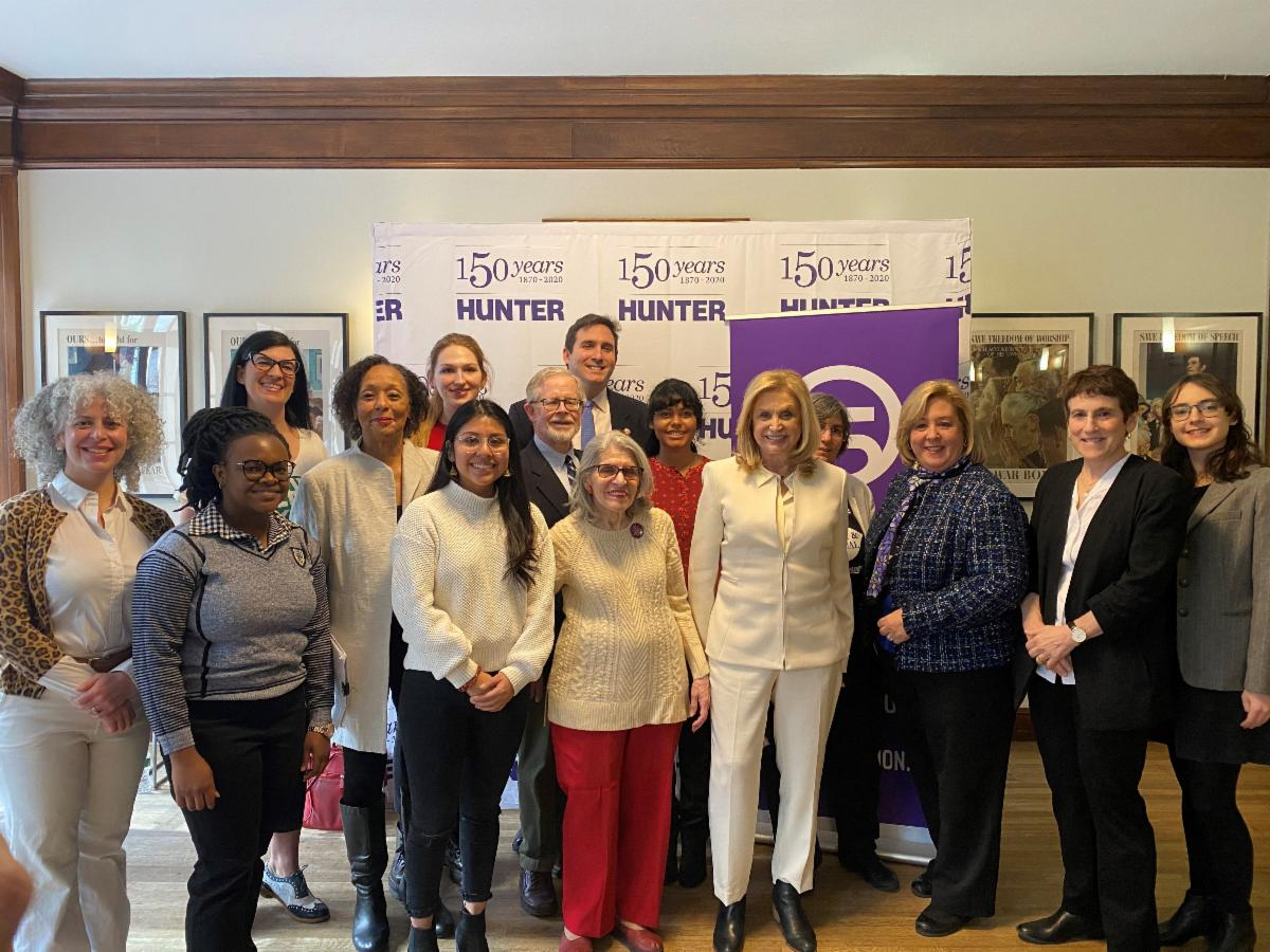 On Sunday, February 9 Assembly Member Rebecca Seawright joined Congresswoman Carolyn B. Maloney, NYC elected officials and women's rights advocates at the historic Roosevelt House at Hunter Colle