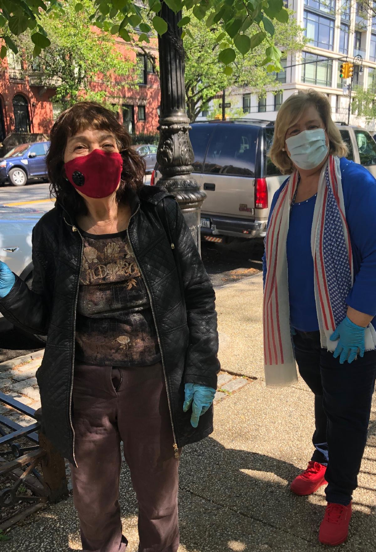 Jane Foss continues to volunteer to deliver homebound senior meals with the Office of Assembly Member Rebecca Seawright. This week, she distributed essential protective face masks and hand sanitizer t