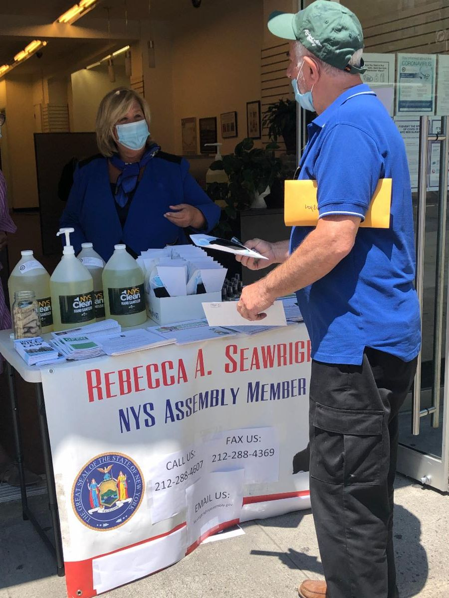 Seawright's community office distributed over 3,000 face coverings and hand sanitizers to date at no-cost to constituents.