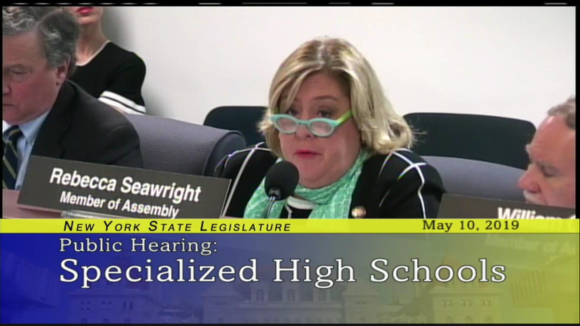Seawright Discusses Specialized High Schools