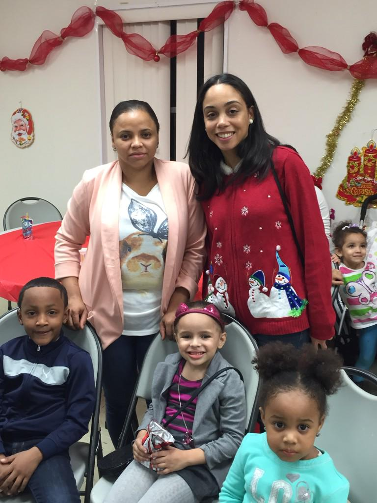 Before the Christmas holiday, Assembly Member Latoya Joyner met with constituents and families at the Highbridge Houses' Christmas celebration.