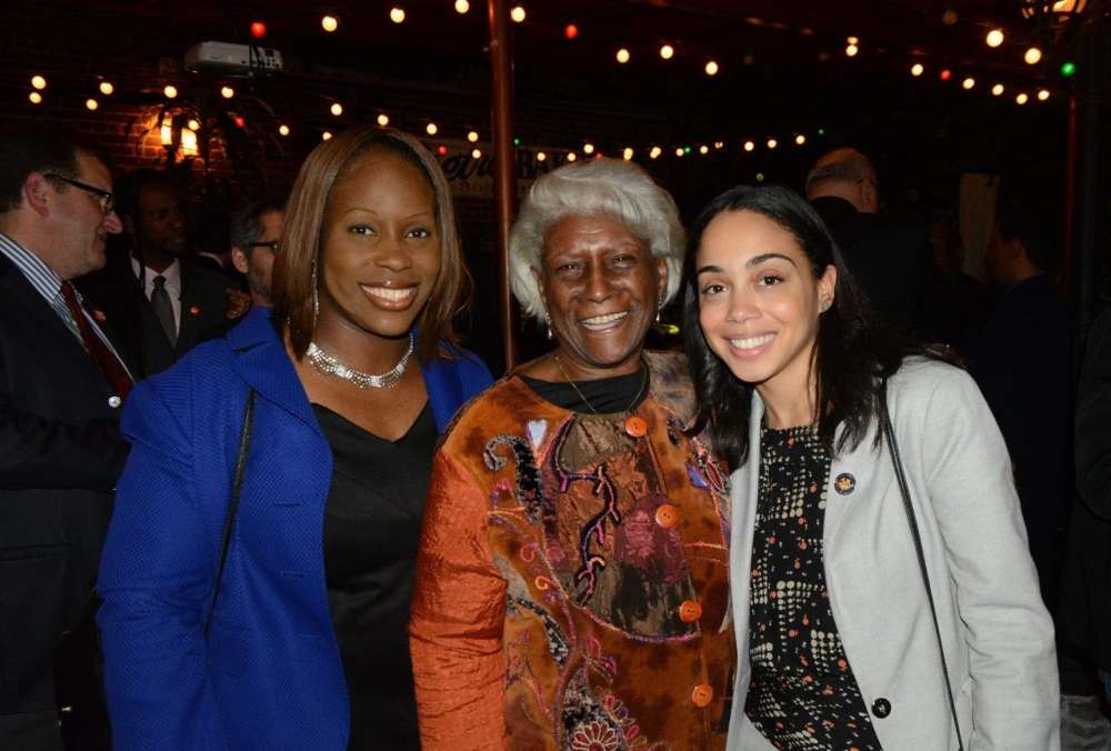(L-R) New York City Council Member Vanessa Gibson, Deputy Bronx Borough President Aurelia Greene and Assembly Member Latoya Joyner.