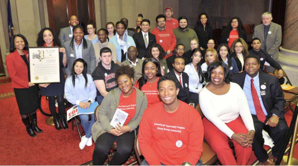 Assemblywoman Latoya Joyner honors Stony Brook University as they celebrate 50 years of excellence in offering Educational Opportunity Programs.<br />