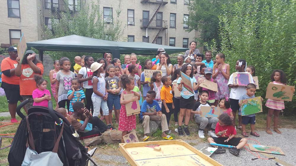 During its last day, Assemblywoman Latoya Joyner hosted a grand finale for the Police Athletic League's Playstreet, which was offered for Highbridge children during the summer.